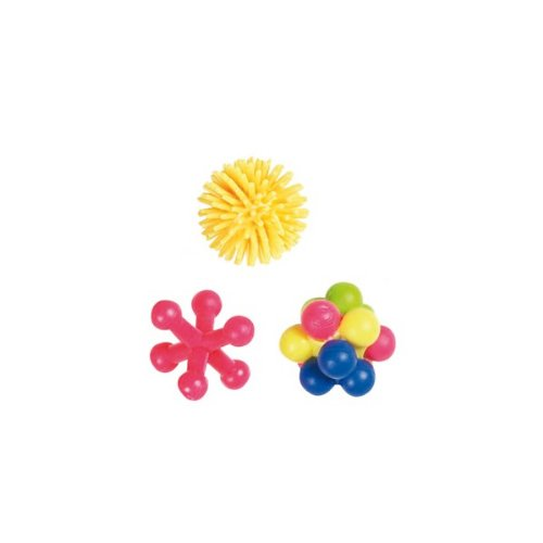 MINNIE Katzenspielzeug: 3 Bälle aus Gummi Ø +/- 4cm #503989