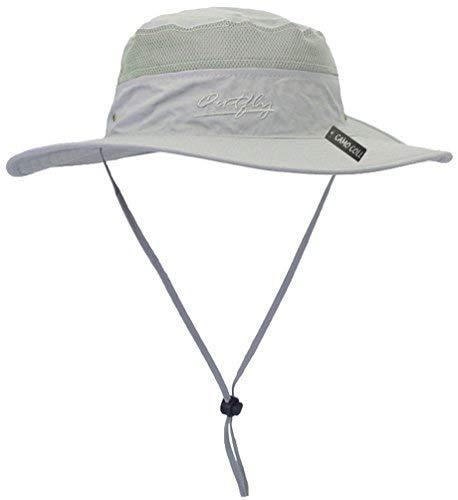 Camo Coll Outdoor Sun Cap Camouflage Bucket Mesh Boonie Hat (Light Grey, One Size)