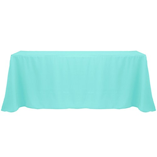 Ultimate Textile 90 x 132-Inch Rectangular Polyester Linen Tablecloth Caribbean -