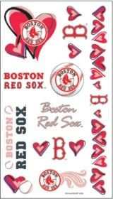 Boston Red Sox Girly Temporary (Sox Tattoo)