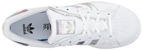 adidas Kids' Superstar J Sneaker, White/White/Gold Metallic, 4.5 M US Big Kid by adidas (Image #8)