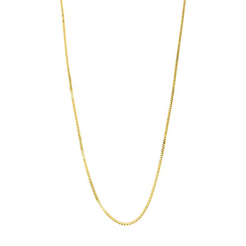 10k Yellow Gold Italian 0.50mm Box Chain Necklace, 18