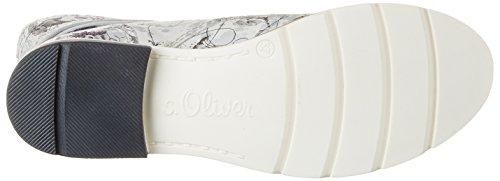 s.Oliver 5-5-25203-38, Botas Chukka Mujer Plateado (SILVER FLOWER 946)