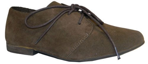 Breckelle's SANDY-31 Basic Classic Lace Up Flat Oxford Shoe,6.5 B(M) US,Light Brown-31W,6.5 C/D US