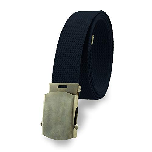 Cotton Military Web Belt MADE IN USA (Navy)