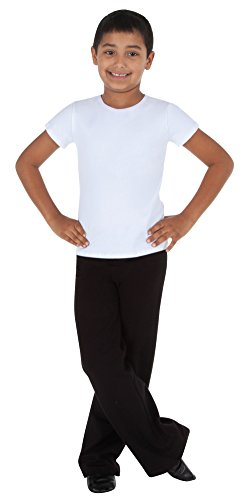 Body Wrappers Pullover - Body Wrappers Jazzy Cotton Fitted Short Sleeve Pullover Shirt, White, 11-12