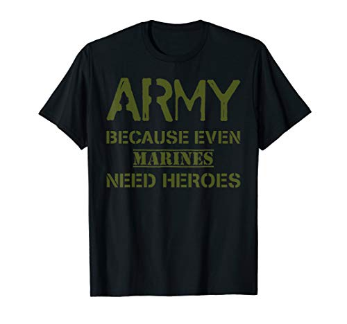 Funny US Army Heroes T-Shirt Gift Soldier USA Military Tee