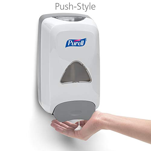 PURELL Advanced Hand Sanitizer Foam FMX-12 Starter Kit, 1 - 1200 mL Advanced Hand Sanitizer Foam Refill + 1 - PURELL FMX-12 Dove Grey Push-Style Dispenser – 5192-D1 by Purell (Image #2)