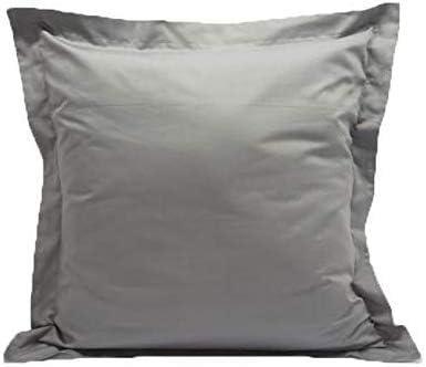 600 Thread Count 100 Egyptian Cotton 2 Piece Euro Shams Solid Pattern 26 X 26 66 Cm X 66 Cm Light Grey Amazon Co Uk Kitchen Home