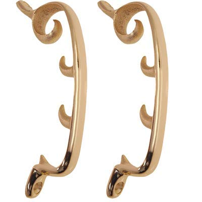 - Brass Plated Morris Chairs Bracket (2 Pack) - 6 5/8
