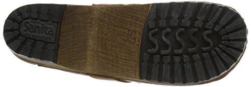 Sanita Kimmie AntiqueHolz Leder Clogs (Art: 452303) Cognac