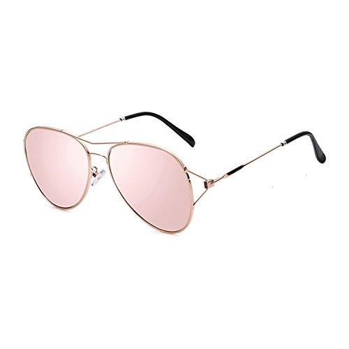 Pink Sra Luz Protección Clásico Decoración Anti 100 Gris Color UV Hombres Protección UVA Polarizada de Puro Redondo sol Retro WYYY Color Marco gafas Solar twCqgg