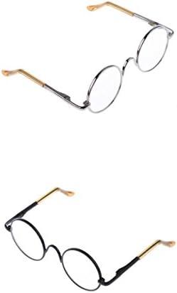 1/6ブライス ドール眼鏡 メガネ ブライス アゾン リカドール用 可愛い 飾り 2ペア