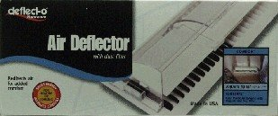 """Deflecto Adjustable Air Deflector with Dust Filter, 10"""" x 14"""" (52)"""
