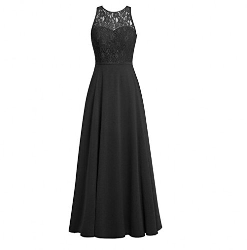 Buy long black lace dress next - 4