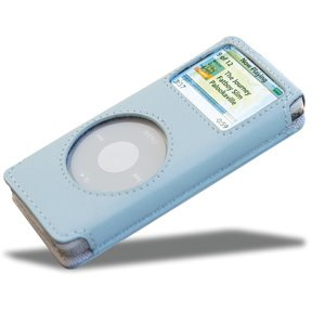 (Covertec Luxury Pouch Case for iPod Nano - Nappa Leather (Baby Blue))