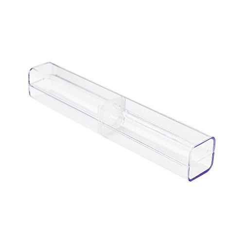- Zhi Jin 8Pcs Plastic Clear Ballpoint Pen Gift Box Pencil Boxes Empty Bulk Case Collection Set for Business School