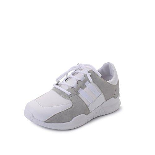 Damen Sneaker,Koreanische Freizeitschuhe,Original Bed Shoes Mit Leinwand,Flache Weiß Running Shoes A