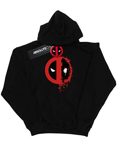 Capuche Deadpool Logo Marvel Splat Split Femme Noir À Sweat 0H5wZOxq