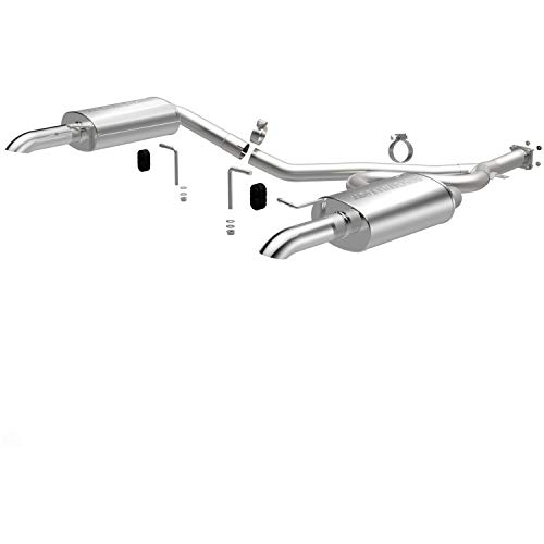 (MagnaFlow Exhaust Products 16889 Street Series Performance Cat-Back Exhaust System 2.5 in. Incl. Y-Pipe/Dual 5x8x14 in. Mufflers/Dual 2.5 in. Round Tips Dual Split Rear Exit Stainless Street Series Performance Cat-Back Exhaust System)