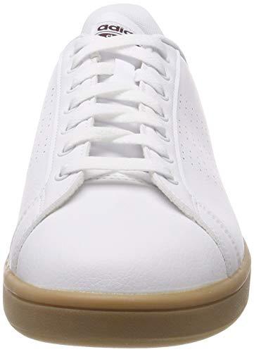 Ftwwht gum4 Adidas Da Cf ftwwht maroon maroon Advantage gum4 Scarpe Tennis Cl Uomo Bianco PxOPrqBw