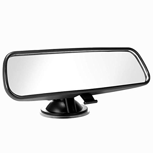 (ELUTO Rear View Mirror Universal Car Truck Interior Rear View Mirror Suction Cup Rear View Mirror Adjustable Mirror 8.46