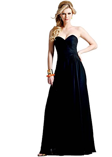 Faviana Dress Black (Faviana Strapless Chiffon Gown Black - 10)