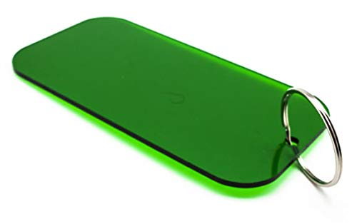 Oversized Keychain Tag Acrylic Green Rectangle 6