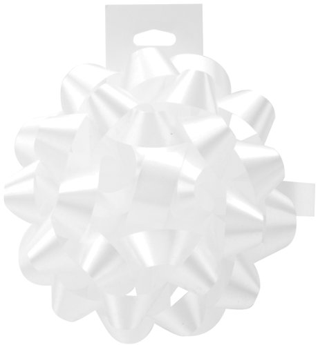 Cindus Carnival Bow, 4.5-Inch, White - Pack of 12 by Cindus