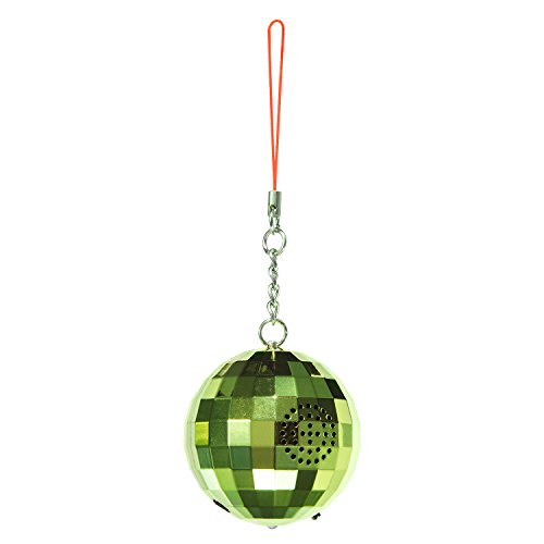 Glass Snowflake Friend Ornament - Ivation Christmas Ornament Speaker – Wireless Bluetooth Holiday Speaker w/Hanging Hook, USB Charging Cable & 3.5mm Auxiliary Cable – Available in Red or Green