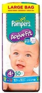 Large Pack x 50 per pack Pampers Active Fit Size 4