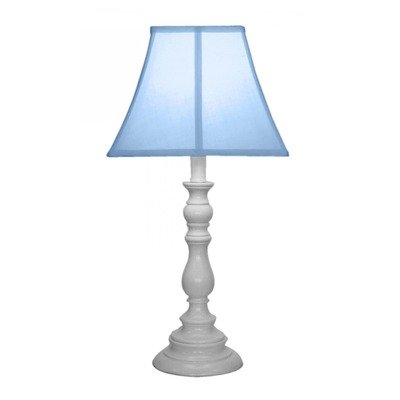 Creative Motion White Base Resin Table Lamp, Light Blue