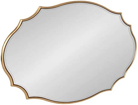 Kate and Laurel Leanna Scalloped Oval Wall Mirror