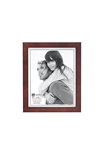 Malden 8x10 Picture Frame - Wide Real Wood Molding, Real Glass - Dark - Walnut Frame Picture