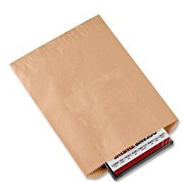 100 Pack Brown Kraft Paper Bags Flat Merchandise Bags Gift Bags Shopping Sales Tote Bags (6 x 9 In)