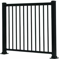 Aluminum Deck Railings - GILPIN IRONWORKS 619031B Summit 4' Black Aluminum Rail