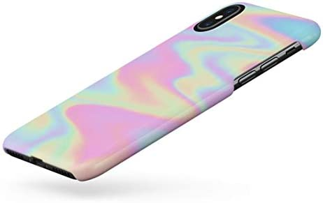 Amazon.com: Holographic Print Tie Dye Rainbow Colorful ...