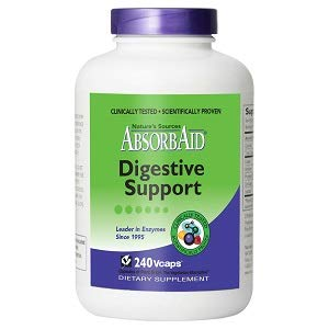 AbsorbAid Digestive Enzymes 240 vCaps, Proven to Increase Vital Nutrient Absorption by up to 71%!