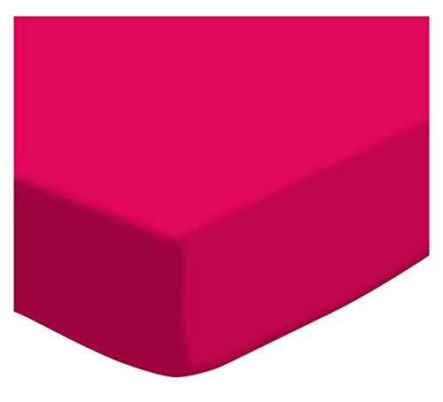 SheetWorld Fitted Cradle Sheet - Hot Pink Jersey Knit - Made In USA