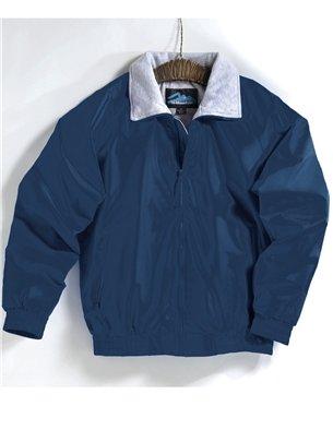 Premium Quality Mens Tall Sizes 100  Nylon Clipper Jacket   Navy  5Xlt