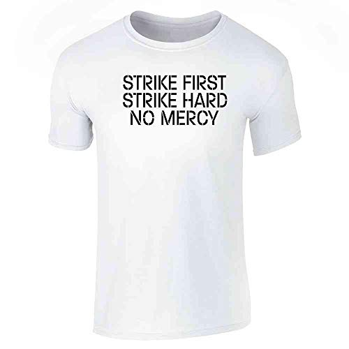 Strike First Hard No Mercy Cobra Kai Karate Kid White S Short Sleeve T-Shirt -