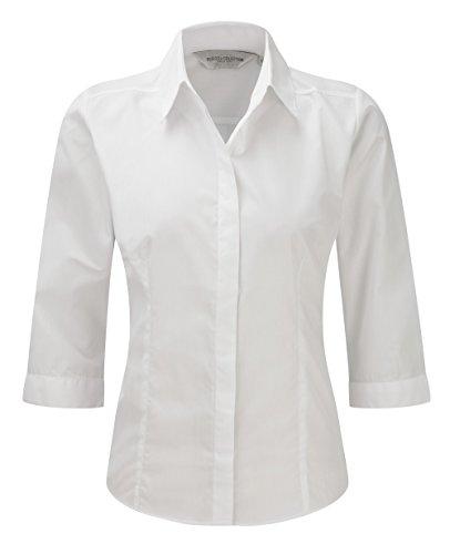 Z926F popelín-blusa con 3/4-brazo blanco