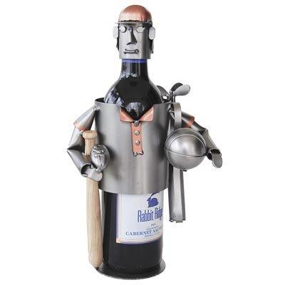 Sports Fanatic Wine Bottle Holder H&K Steel Sculpture - ()
