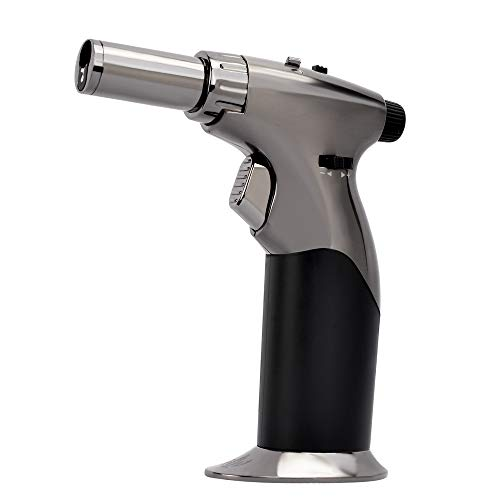 HUOWA Jet Torch Cigar Lighter with Soft or Jet Flame Changeable and Lockable Butane Gas Fuel Refillable Windproof Cigarette Lighter