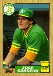 1987 Topps Jose Canseco Baseball Card 620 Shipped In Protective