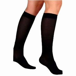 UltraSheer Knee-High Firm Compression Stockings X-Large Full Calf, Black (1 Pair) by BSN Medical
