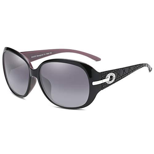 DUCO Women's Classic Stylish Designer Oval Polarized Sunglasses 100% UV400 Protection 6214