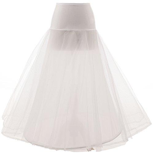 Changjie Women's a Line Floor Length Wedding Dress Underskirt Petticoats Slips Length Wedding Gown