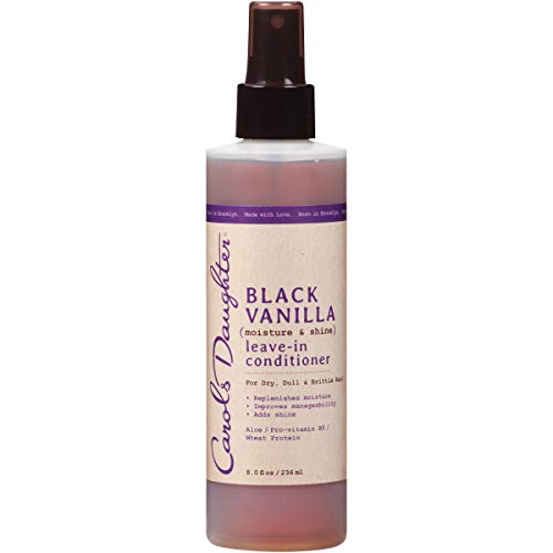 Carol's Daughter Black Vanilla Moisture & Shine Leave In Conditioner For Dry Hair and Dull Hair, with Aloe, Vitamin B5 and Wheat Protein, 8 fl oz (Packaging May Vary)