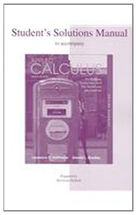 Students Solutions Manual To Accompany Applied Calculus For Business  Economics  And The Social And Life Sciences  Expanded Edition
